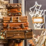 Stacked Vintage Luggage, Athens